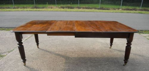 victorian mahogany extending dining table to seat eight