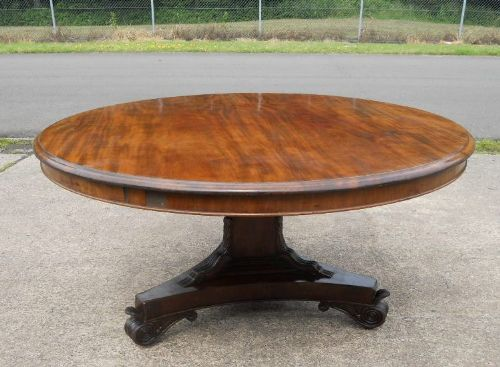 Victorian Round Mahogany Pedestal Dining Table 229533