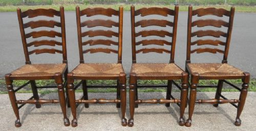Brilliant Ideas Of Pair Antique French Ladderback Arm Chairs With