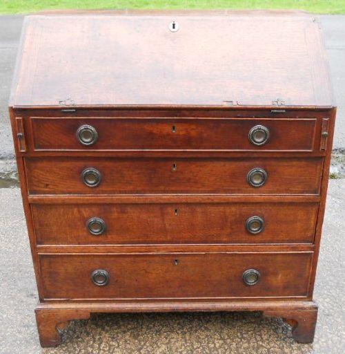 georgian oak writing bureau 261945. Black Bedroom Furniture Sets. Home Design Ideas