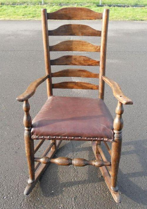 Elm Ladderback Rocking Armchair | 266644 | Sellingantiques ...
