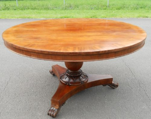 victorian mahogany round pedestal dining table 287862. Black Bedroom Furniture Sets. Home Design Ideas