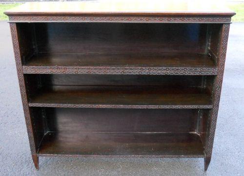 edwardian mahogany open cabinet bookcase