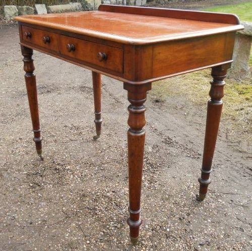 victorian mahogany two drawer writing table