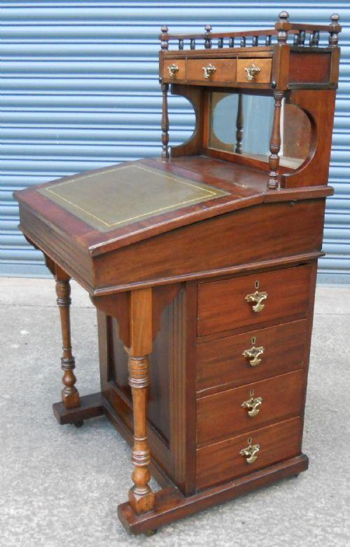edwardian mahogany davenport desk by james shoolbred