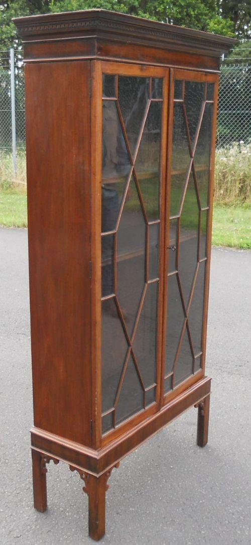 georgian style mahogany standing bookcase