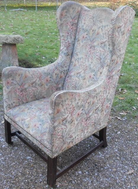 Harrison Antique Furniture · EDWARDIAN WING FIRESIDE ARMCHAIR - Antique Fireside Chairs - The UK's Largest Antiques Website