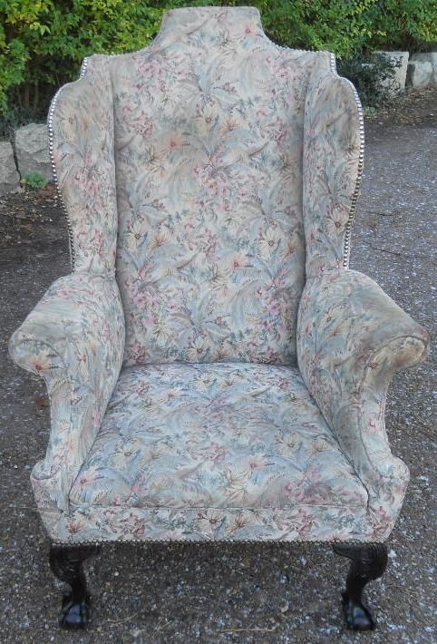 georgian highback wing fireside armchair