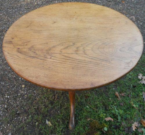 georgian oak tripod coffee table