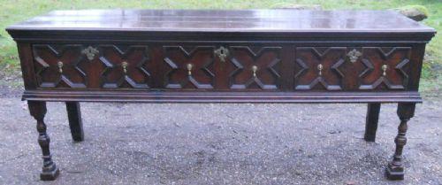 antique oak jacobean low dresser base