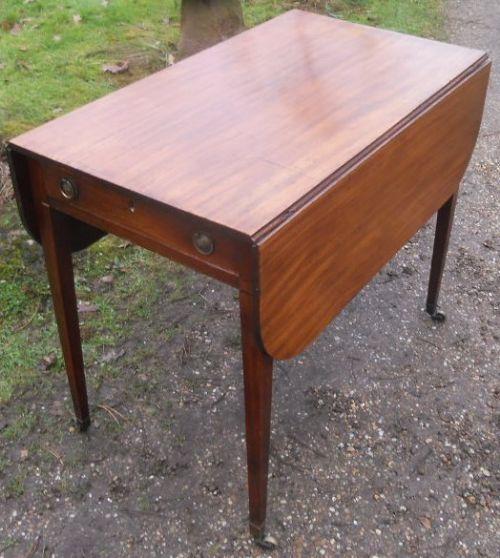 georgian mahogany dropleaf pembroke table