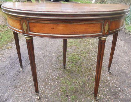 mahogany bow front fold over card table
