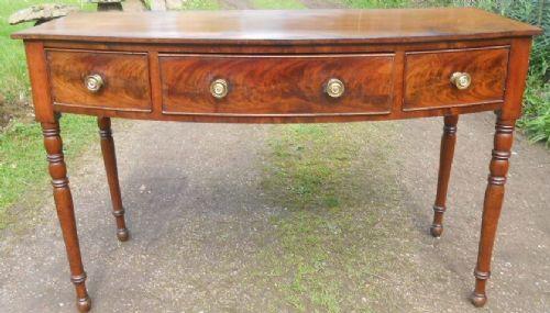 georgian bowfront mahogany console table