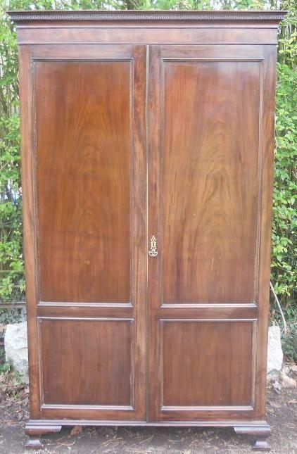 scottish georgian style mahogany hanging wardrobe