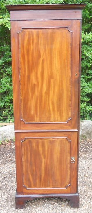 victorian mahogany narrow hall robe