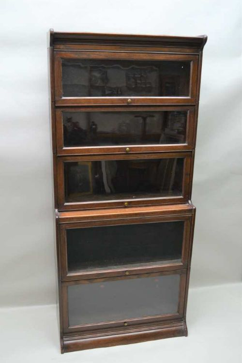 tall oak stacking bookcase