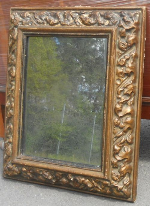 gilt framed hanging wall mirror