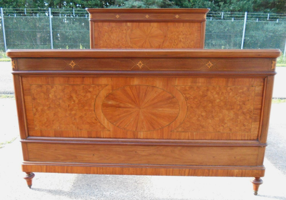 edwardian inlaid mahogany five foot double bed