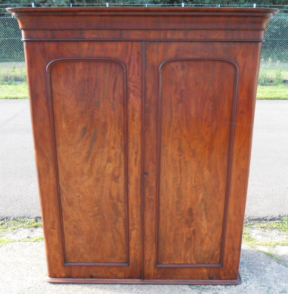 victorian mahogany two door hanging wardrobe