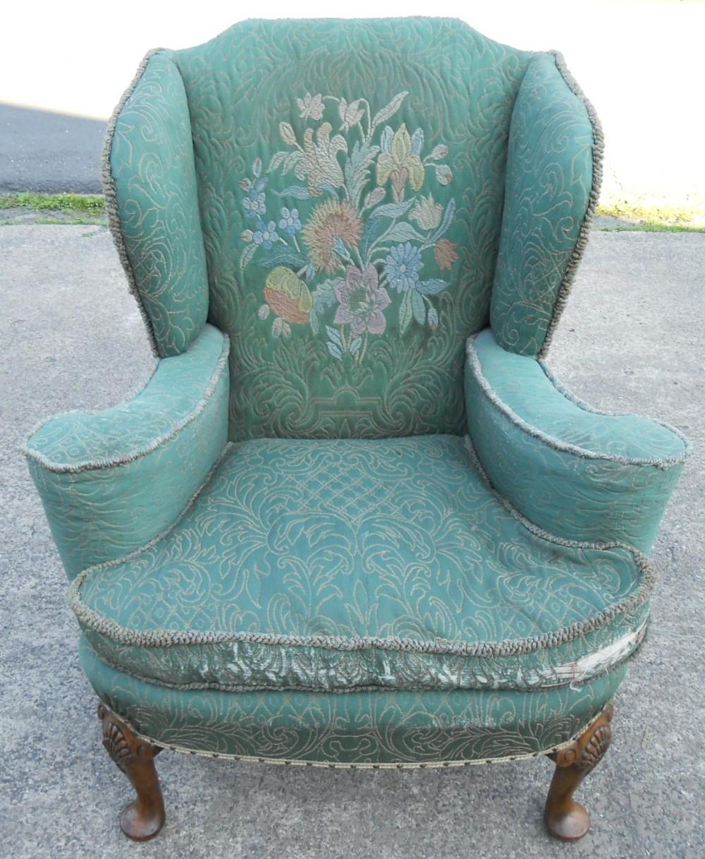 Wingback Upholstered Fireside Armchair | 238650 ...