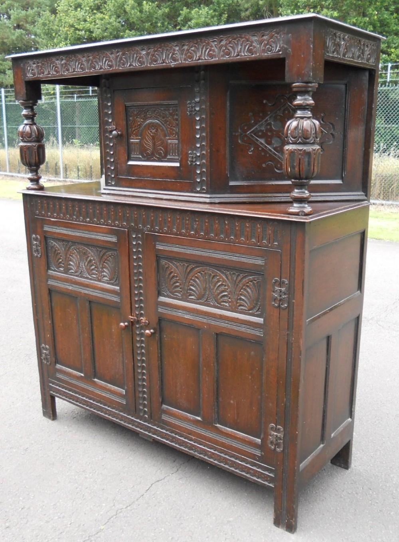 large jacobean style oak court cupboard - Large Jacobean Style Oak Court Cupboard 355094 Sellingantiques.co.uk