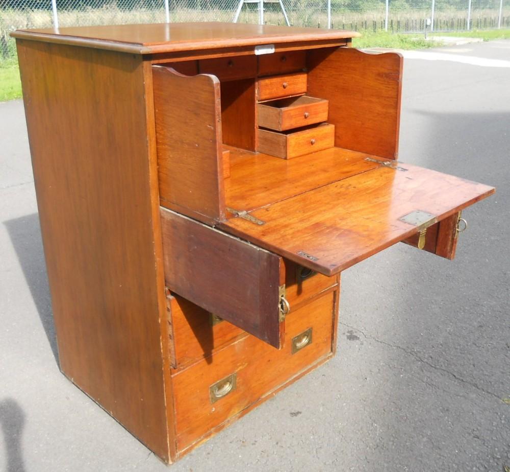 victorian mahogany secretaire chest desk