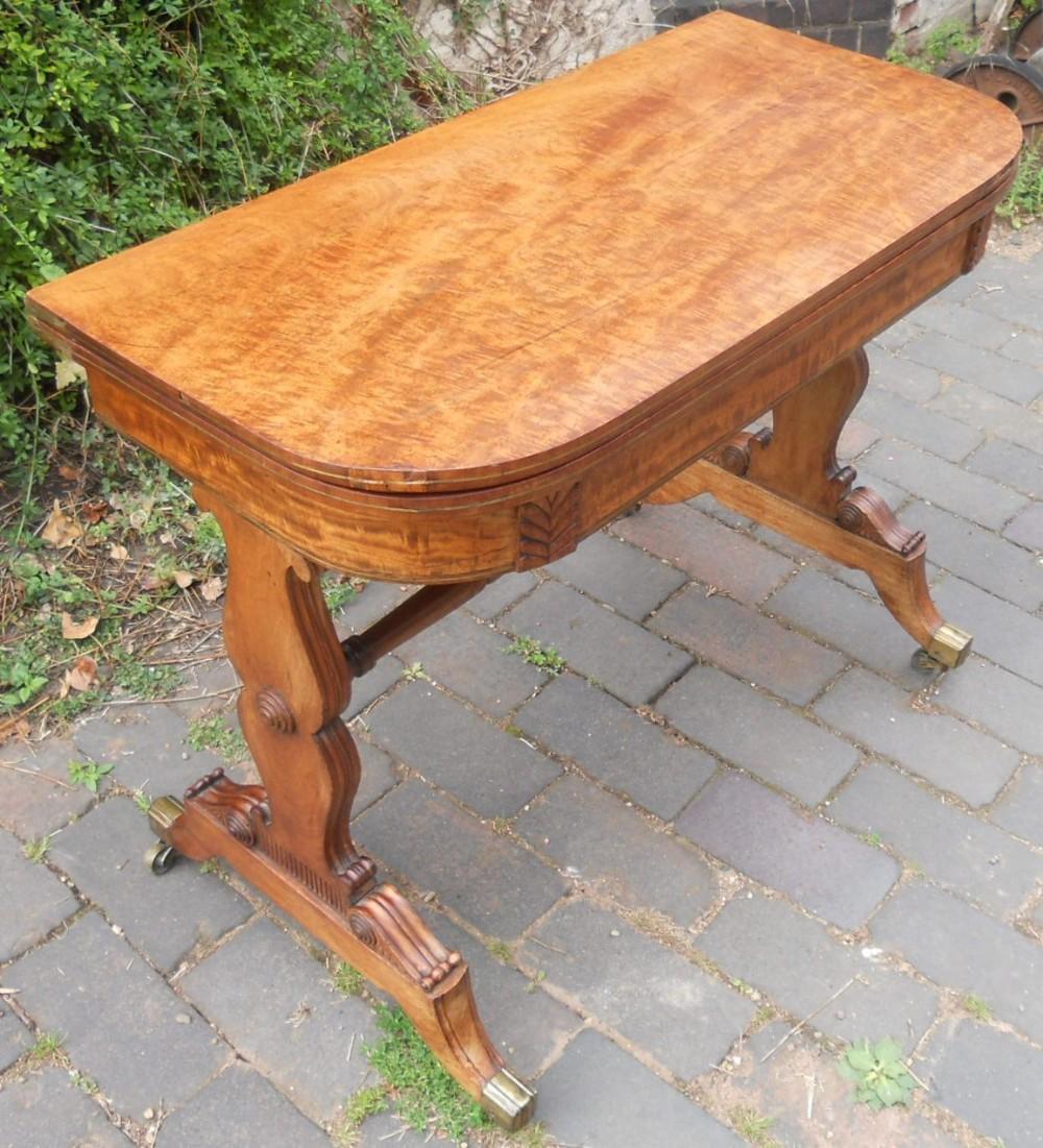 regency mahogany fold over card table