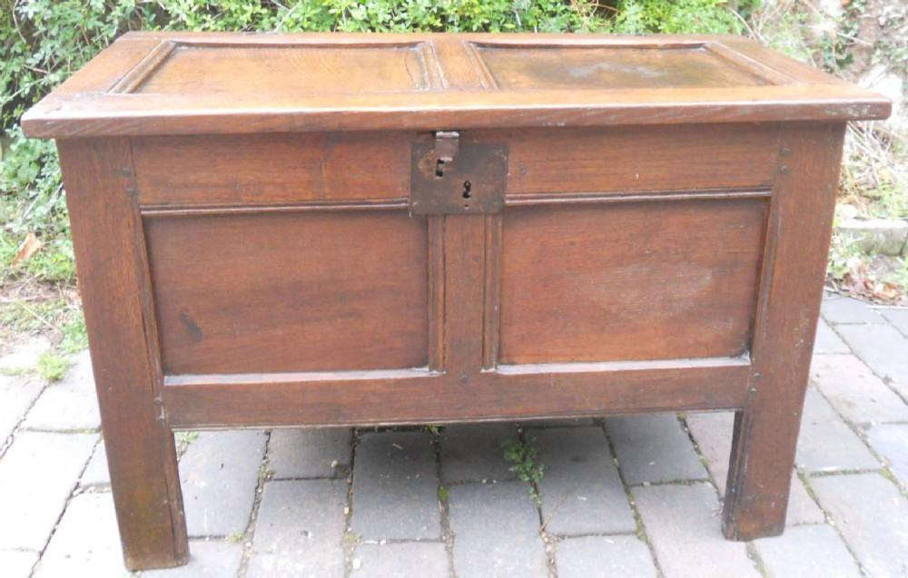 antique small oak blanket chest