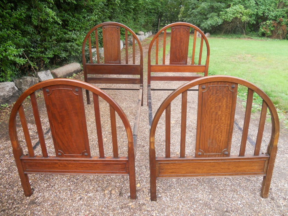 pair of edwardian mahogany single beds