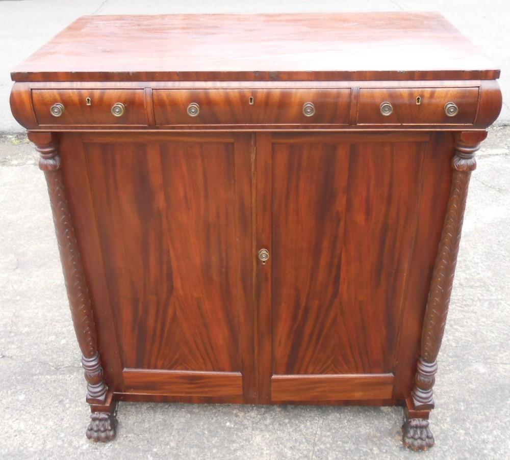regency large mahogany storage cupboard