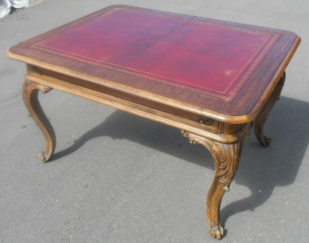 victorian walnut low centre table