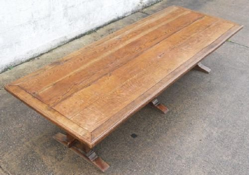 Large Oak Refectory Dining Table To Seat Twelve 139401  : large oak refectory dining table to seat twelve 139401 from www.sellingantiques.co.uk size 500 x 351 jpeg 35kB