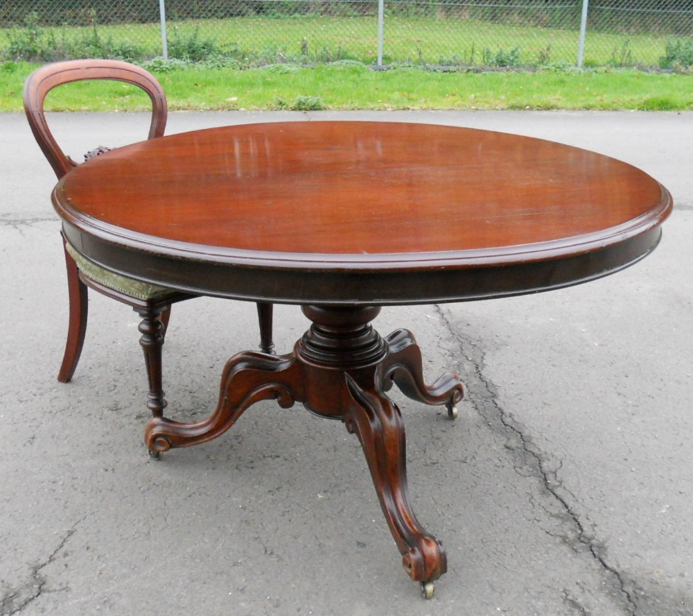 Victorian Mahogany Round Pedestal Dining Table 252825  : victorian mahogany round pedestal dining table 252825 from www.sellingantiques.co.uk size 1000 x 888 jpeg 199kB