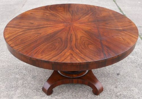 victorian rosewood round pedestal centre dining table 186228. Black Bedroom Furniture Sets. Home Design Ideas