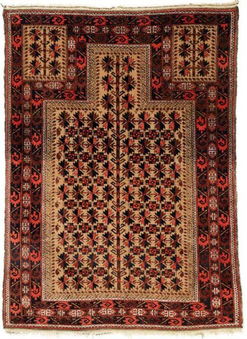 antique persian baluch prayer rug