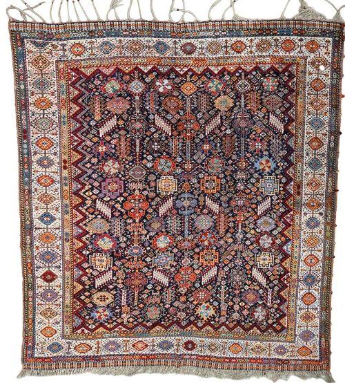 a very fine antique shekarlu tribal carpet 257x203 cm