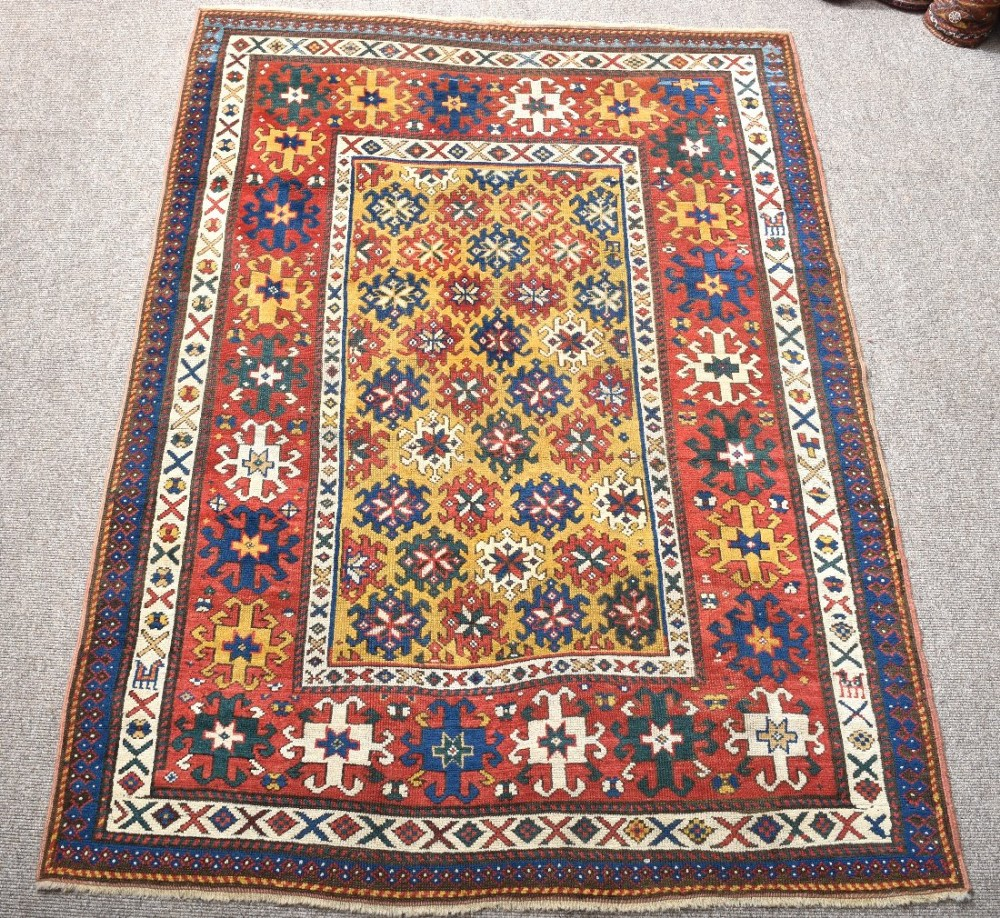 Caucasian Rugs Uk: Antique Caucasian Genge Rug