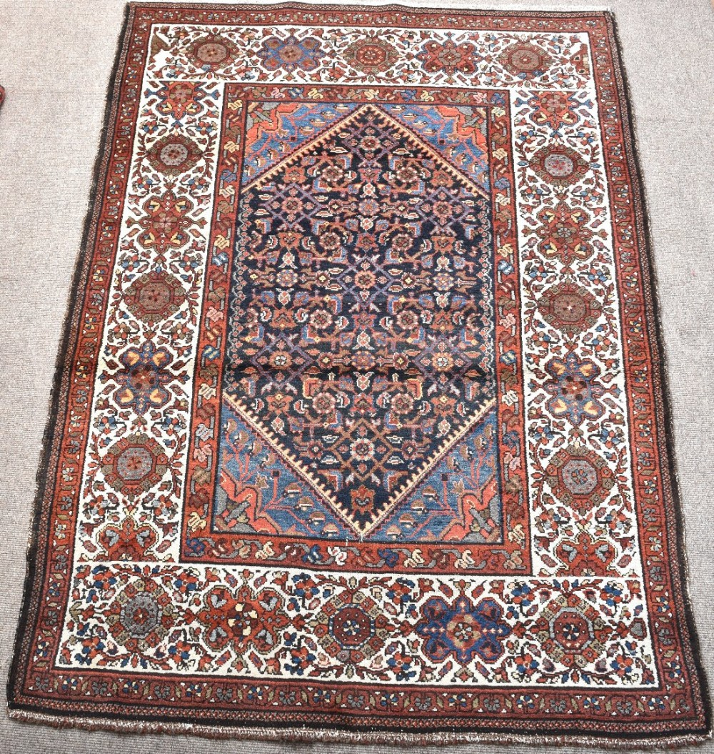 old persian hamadan village rug
