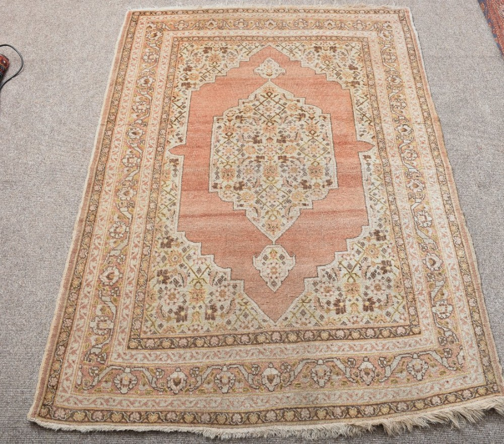 Antique Persian Tabriz Rug With Soft Colours