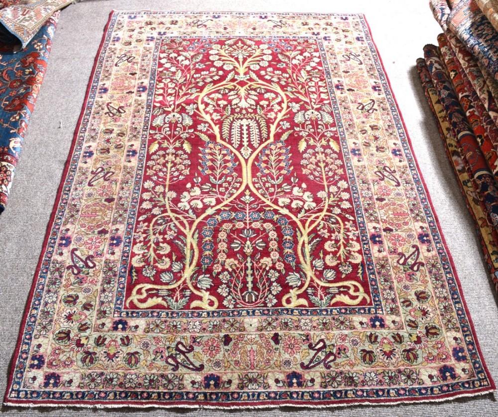 Antique Oriental Rugs Uk: Antique Persian Lavar Kirman Rug