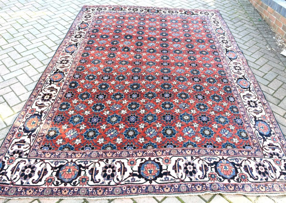 old persian veramin carpet