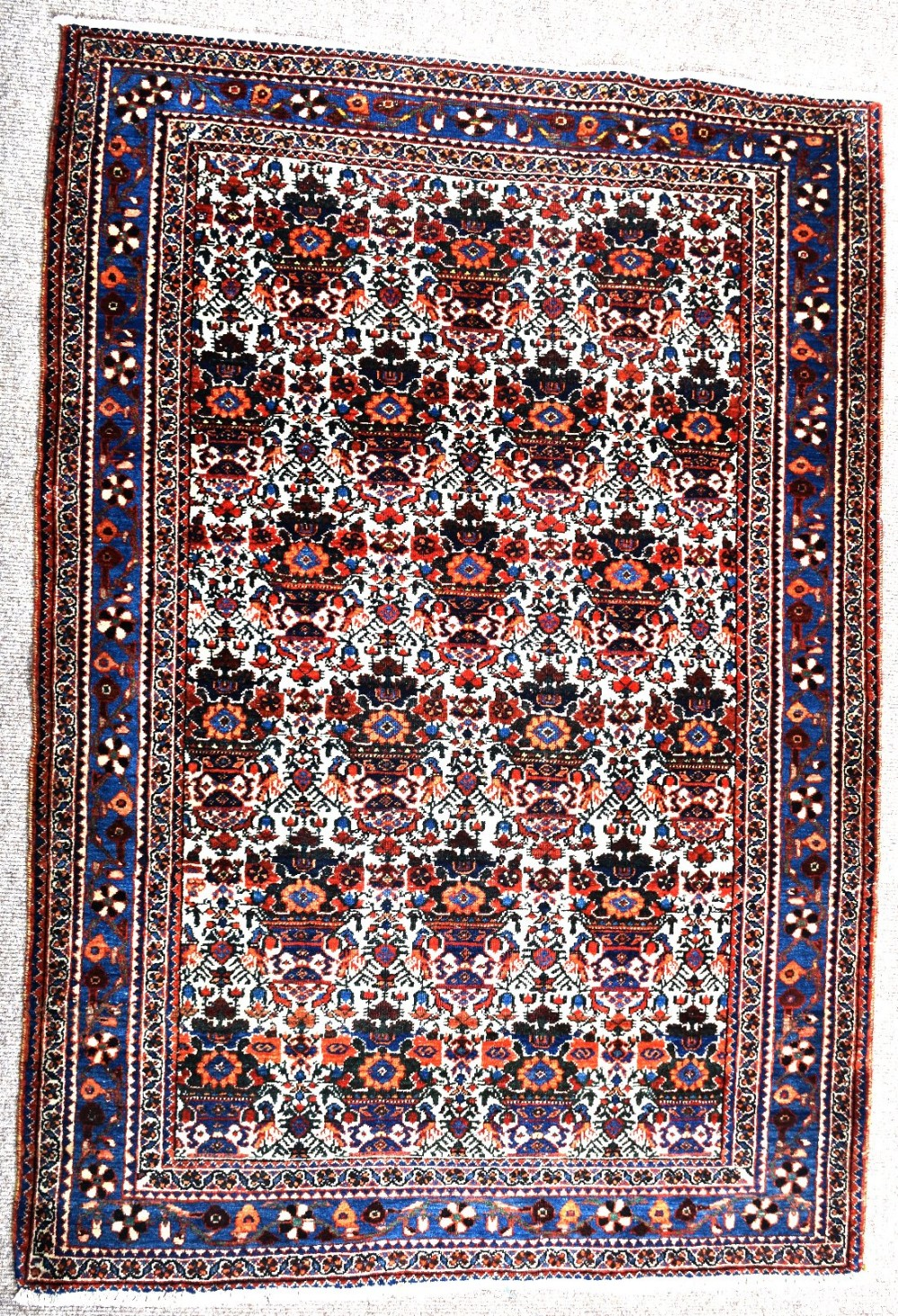 fine old persian abedeh village rug