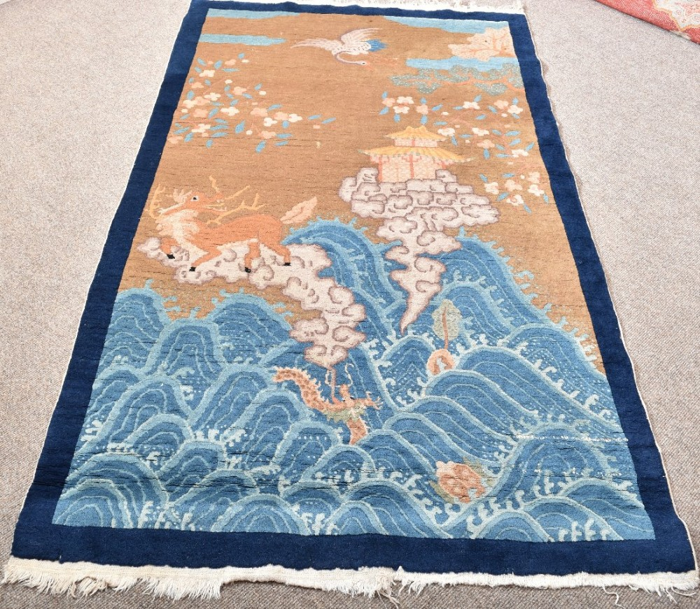 Old Chinese Peking Rug 456931 Sellingantiques Co Uk