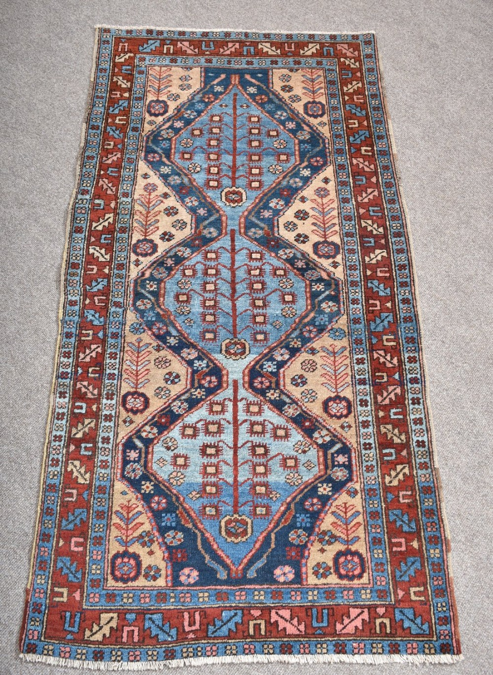antique north west persian heriz rug