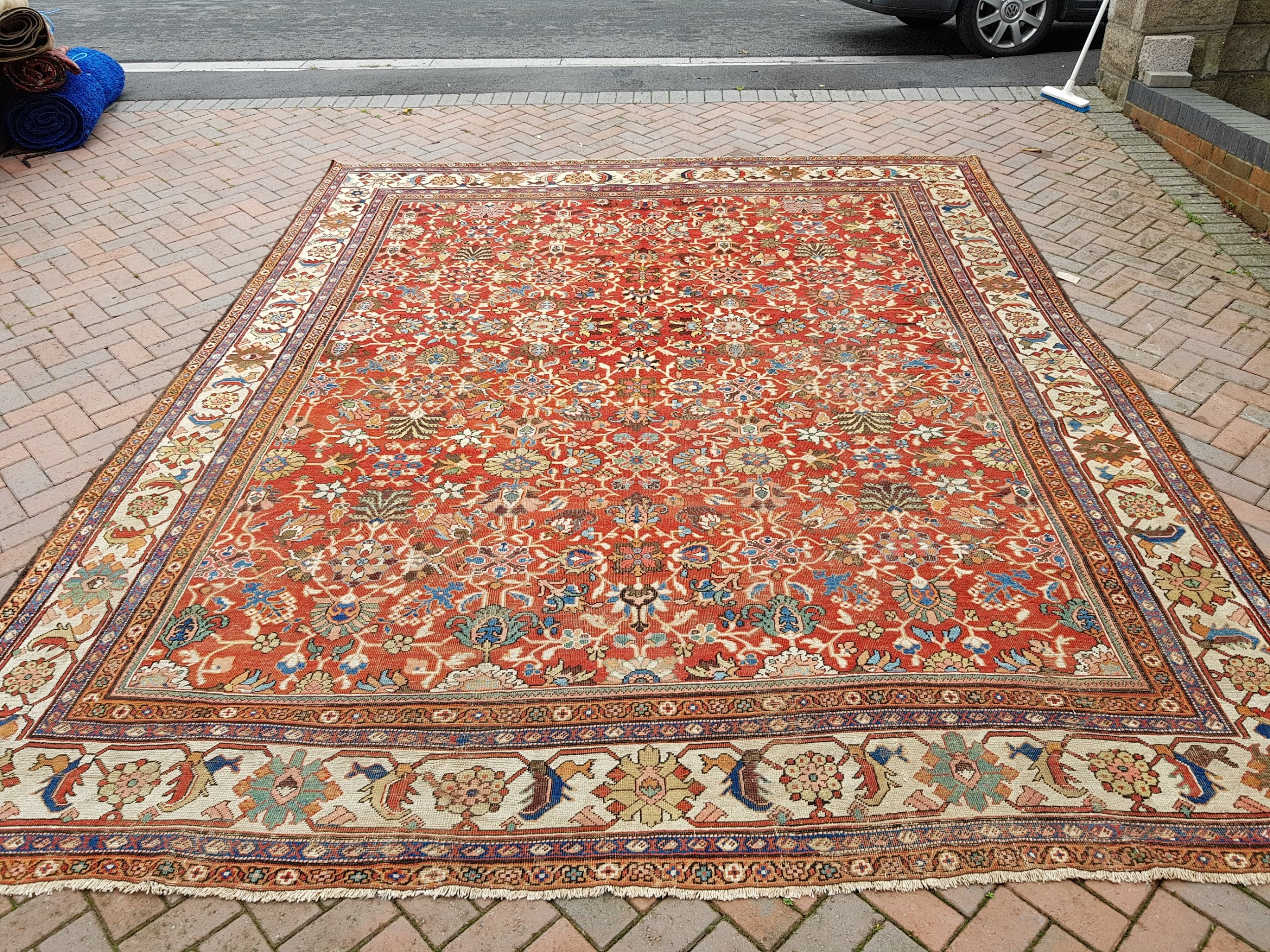 antique persian mahal room size carpet