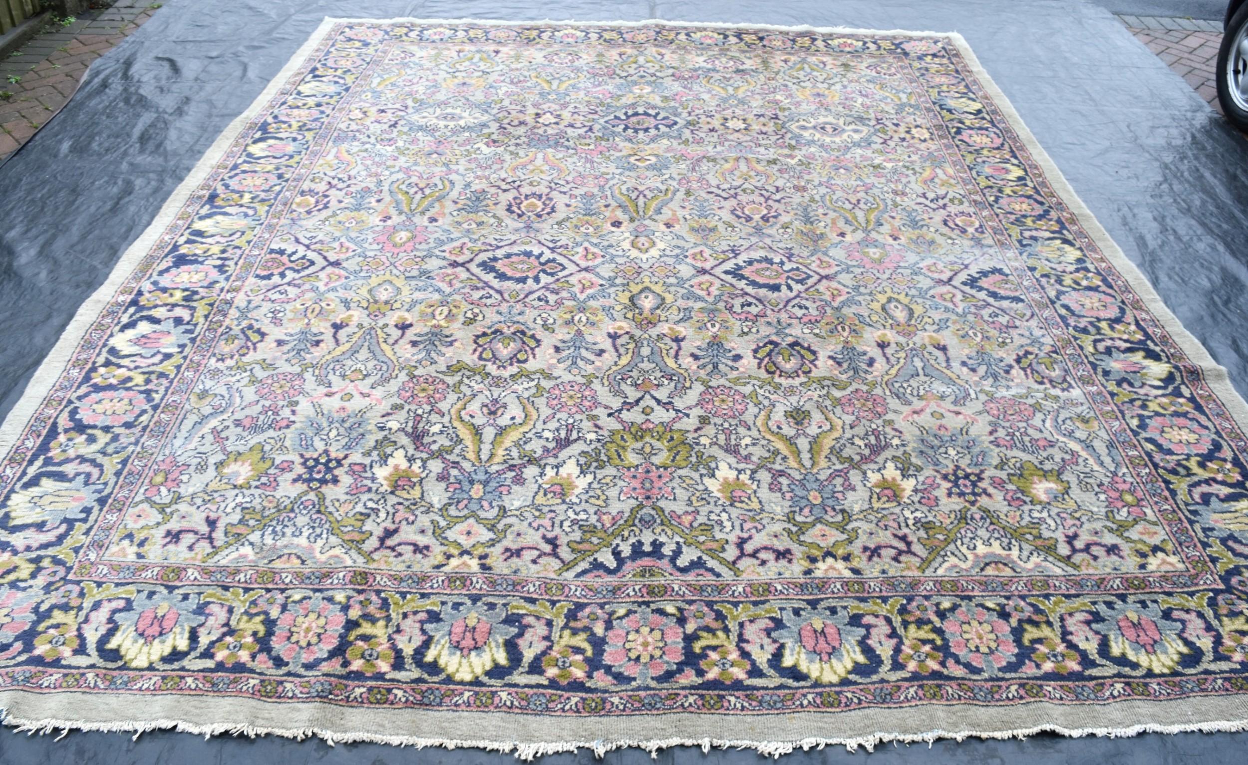 old persian maples mahal carpet 378x313cm