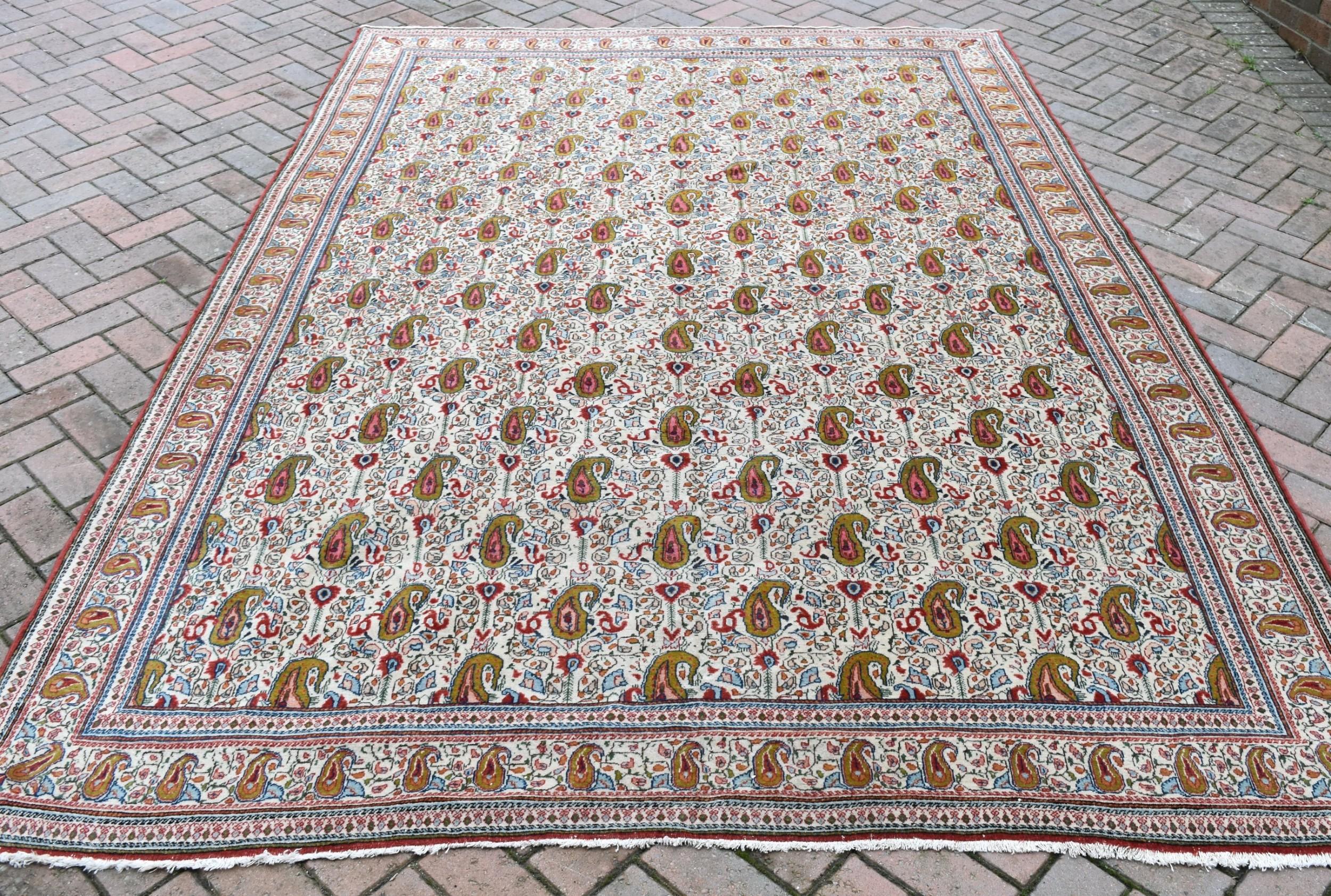 old persian qum carpet 297x213cm