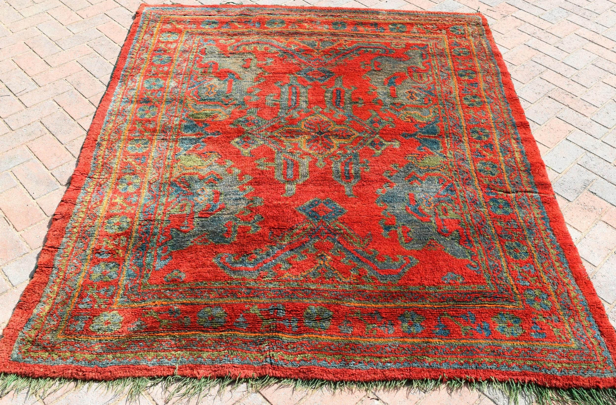 antique ushak small carpet 199 x 161cm