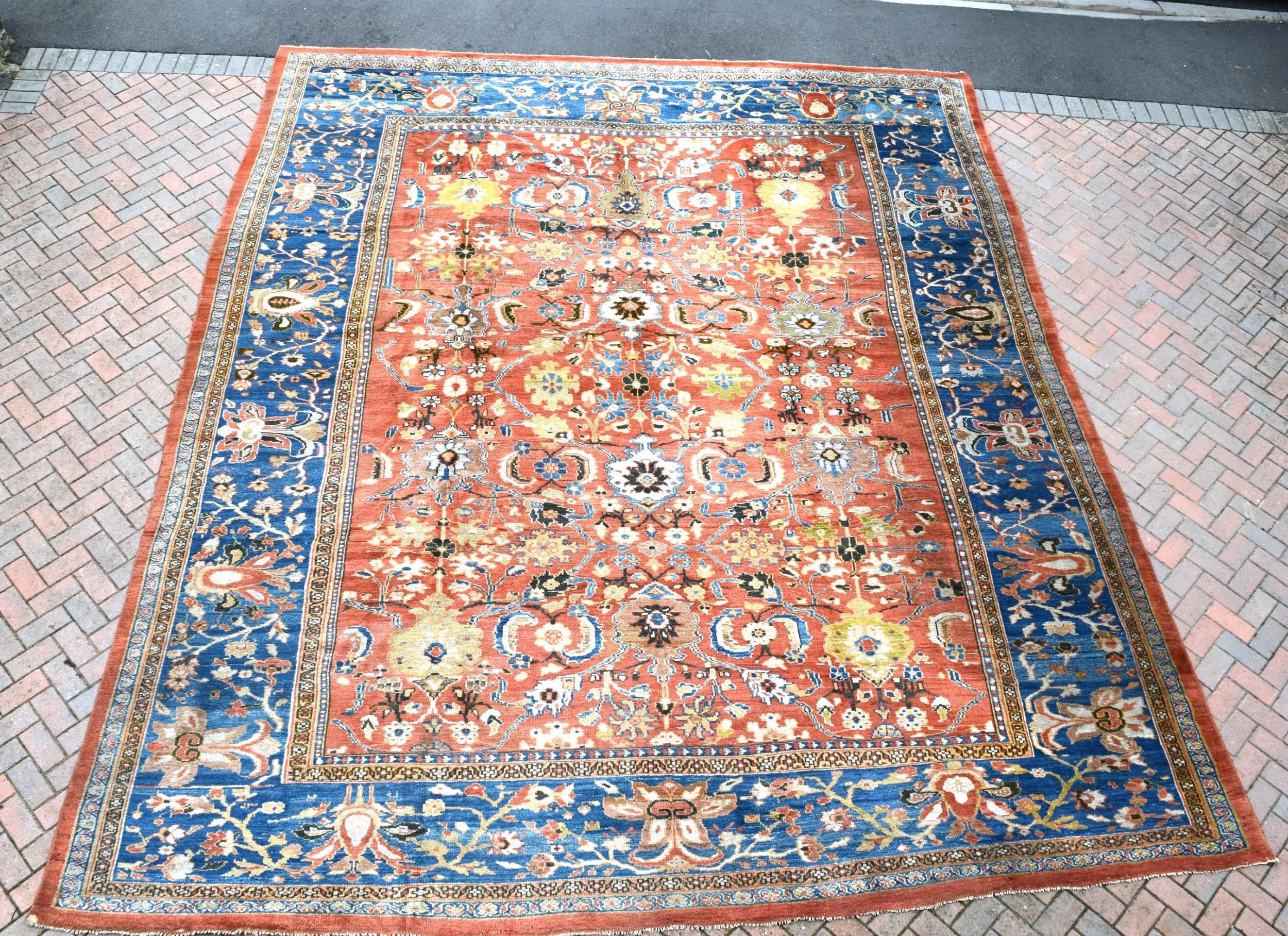 antique oversize ziegler carpet 491x408 cm