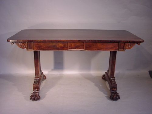 regency rosewood veneered writing table
